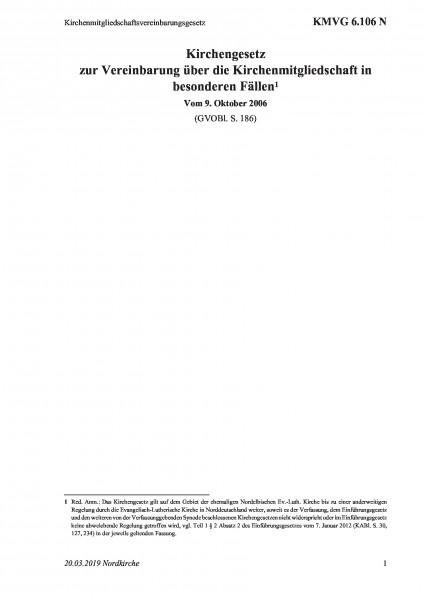 6.106 N Kirchenmitgliedschaftsvereinbarungsgesetz