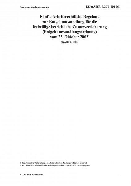 7.371-101 M Entgeltumwandlungsordnung