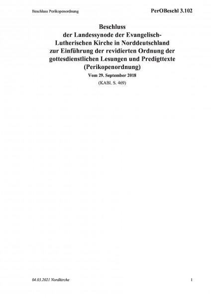 3.102 Beschluss Perikopenordnung