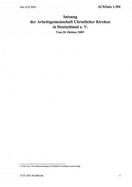 1.304 Satz ACK BRD