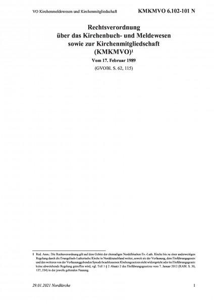 6.102-101 N VO Kirchenmeldewesen und Kirchenmitgliedschaft