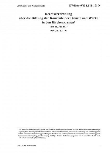 1.511-101 N VO Dienste- und Werkekonvente