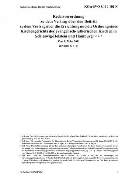 8.110-101 N Rechtsverordnung Beitritt Kirchengericht