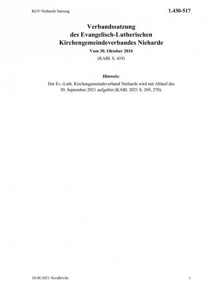 1.430-517 KGV Nieharde Satzung