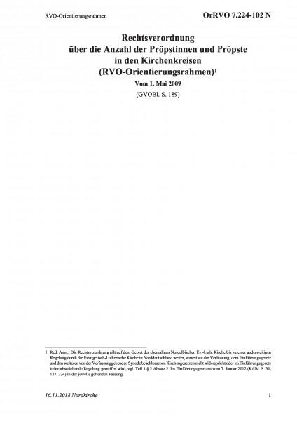 7.224-102 N RVO-Orientierungsrahmen