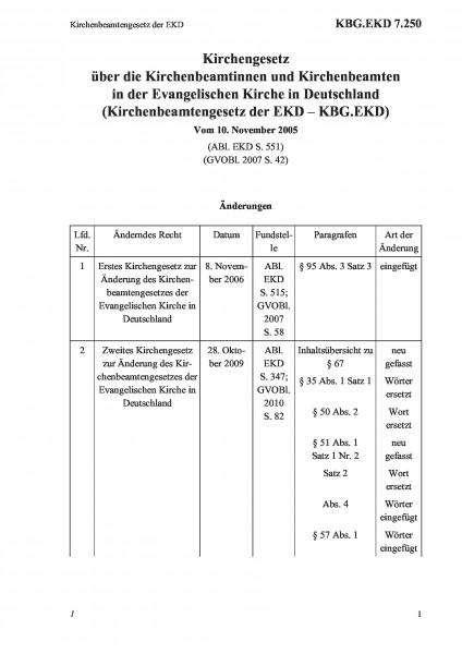 7.250 Kirchenbeamtengesetz der EKD