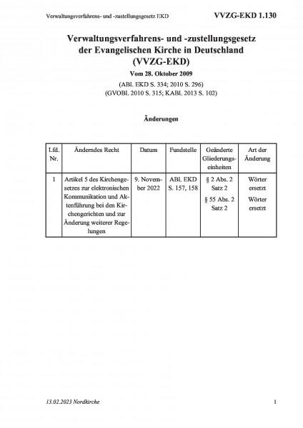 1.130 Verwaltungsverfahrens- und -zustellungsgesetz EKD