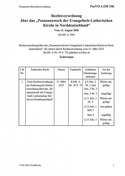 4.230-106 Posaunenwerksrechtsverordnung