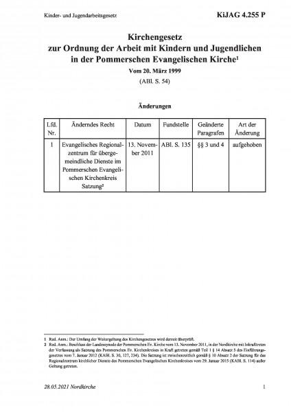 4.255 P Kinder- und Jugendarbeitsgesetz