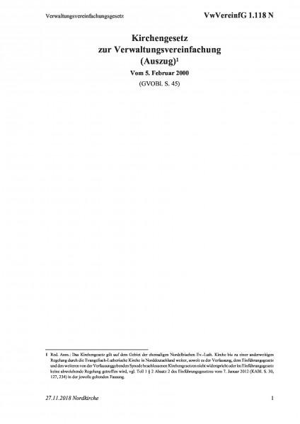 1.118 N Verwaltungsvereinfachungsgesetz