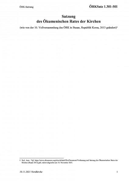 1.301-501 ÖRK-Satzung