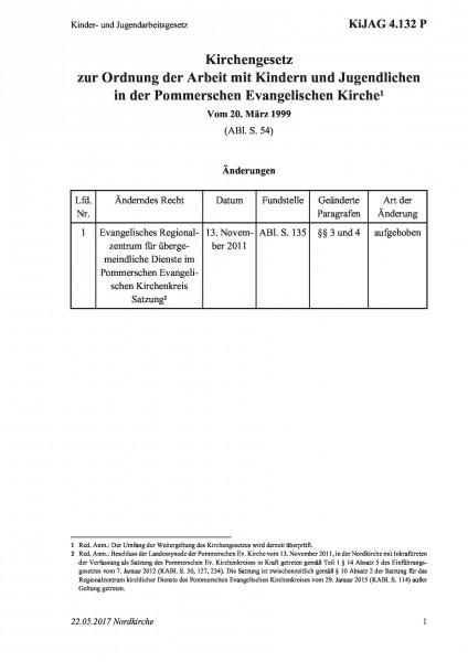 4.132 P Kinder- und Jugendarbeitsgesetz