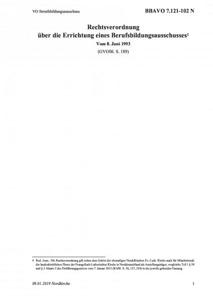 7.121-102 N VO Berufsbildungsausschuss