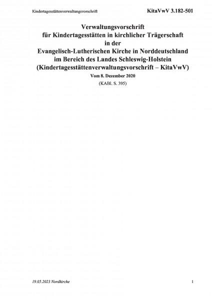 3.182-501 Kindertagesstättenverwaltungsvorschrift