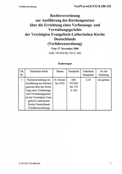8.100-101 Verfahrensordnung