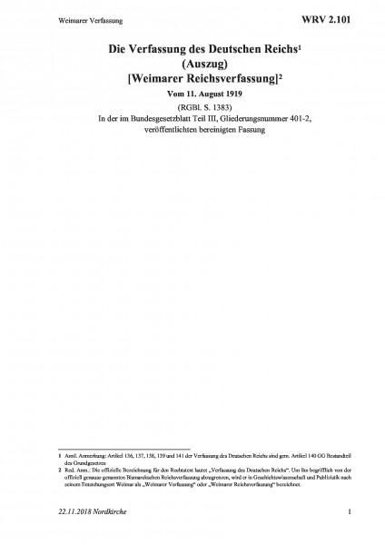 2.101 Weimarer Verfassung
