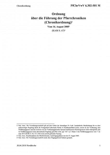 6.302-501 M Chronikordnung