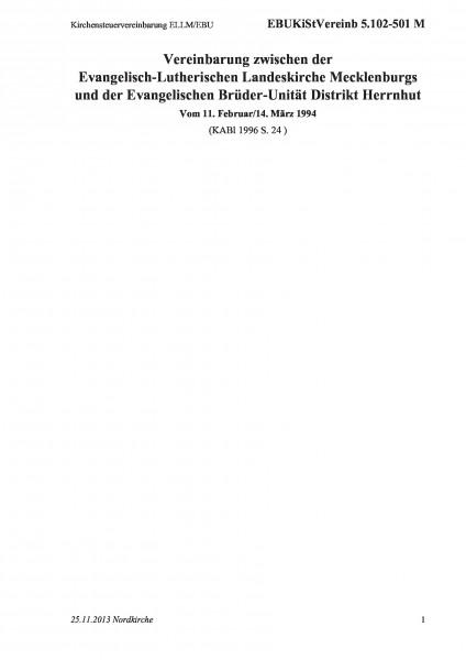 5.102-501 M Kirchensteuervereinbarung ELLM/EBU