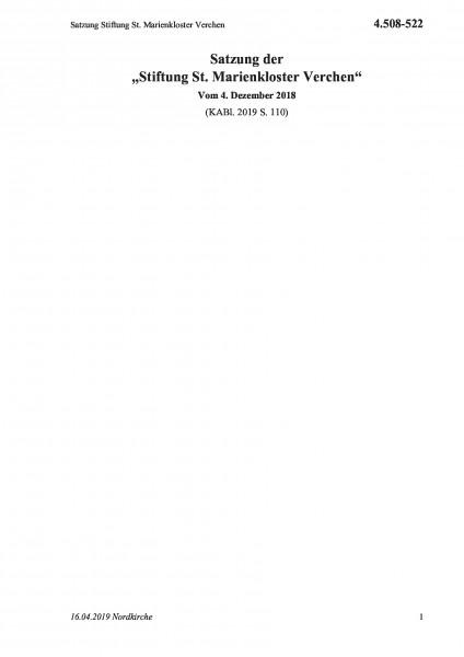 4.508-522 Satzung Stiftung St. Marienkloster Verchen