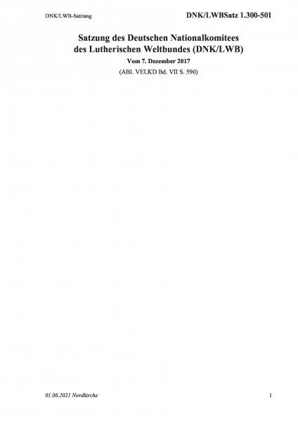 1.300-501 DNK/LWB-Satzung