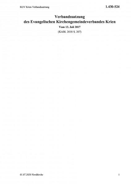 1.430-524 KGV Krien Verbandssatzung