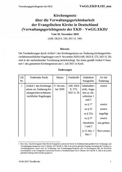 8.103_neu Verwaltungsgerichtsgesetz der EKD