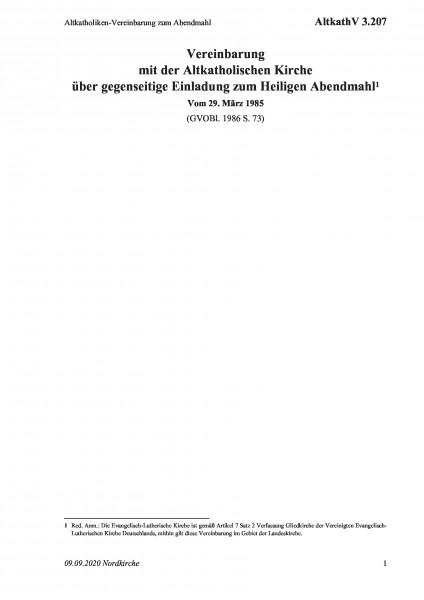 3.207 Altkatholiken-Vereinbarung zum Abendmahl