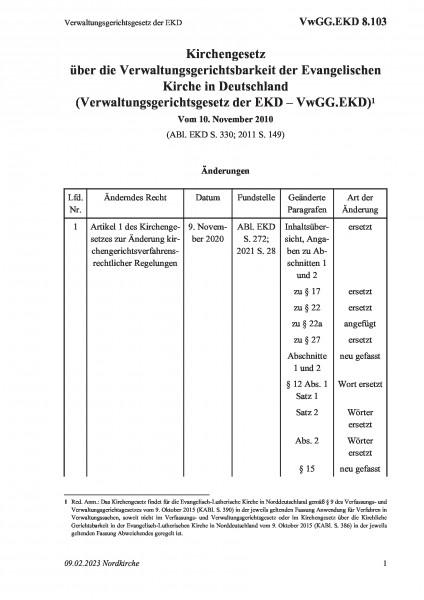8.103 Verwaltungsgerichtsgesetz der EKD