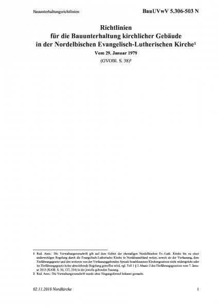 5.306-503 N Bauunterhaltungsrichtlinien